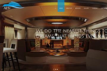 AES Yatch Web Sitesi Tasarımı