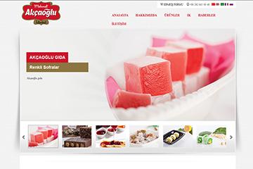 Akçaoğlu Gıda Web Sitesi Tasarımı