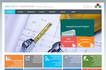 AKS Yapı İnşaat Web Sitesi Tasarımı