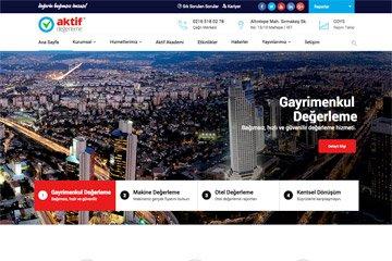 Aktif Web Sitesi Tasarımı