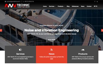 ANV Teknik Web Sitesi Tasarımı