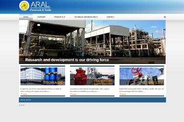 Aral Kimya Web Sitesi Tasarımı
