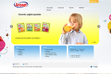 Aroset Gıda Web Sitesi Tasarımı