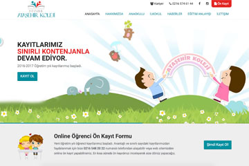 Ataşehir Koleji web tasarım çalışması tamamlandı.