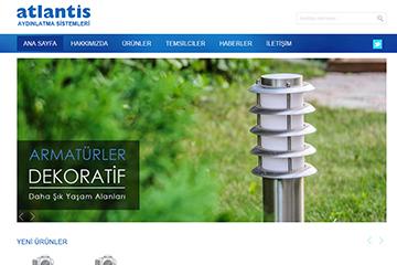 Atlantis Aydınlatma Web Sitesi Tasarımı
