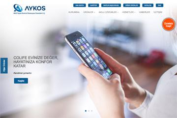 Aykos Web Sitesi Tasarımı