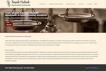 Başak Hukuk Web Sitesi Tasarımı