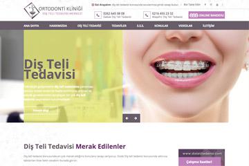 Diş Teli Tedavisi Web Sitesi Tasarımı