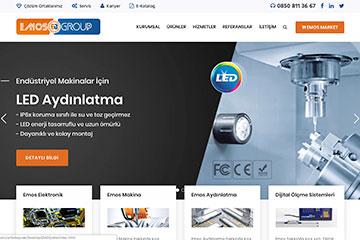 Emos Group Web Sitesi Tasarımı