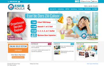Eser Koleji Web Sitesi Tasarımı