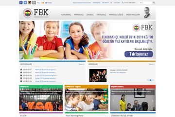 Fenerbahçe Koleji Web Sitesi Tasarımı
