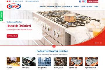 Fenox Endüstriyel Mutfak Web Tasarım