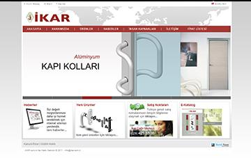 İkar Alüminyum Web Sitesi Tasarımı