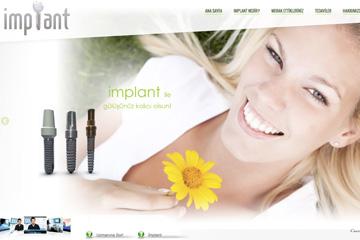 Implant Diş Tedavi Web Sitesi Tasarımı