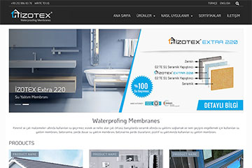 İzotex web tasarım çalışmaları tamamlandı
