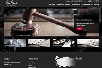 Kültür Hukuk Web Sitesi Tasarımı