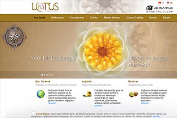 Lotus Lojistik Web Sitesi Tasarımı