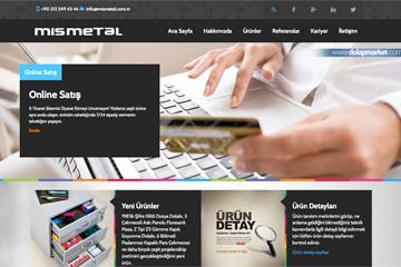 Mis Metal Web Sitesi Tasarımı