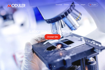 Modüler Tıp Web Sitesi Tasarımı