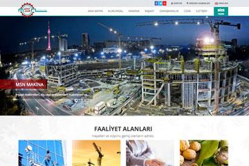 MSN Grup Web Sitesi Tasarımı