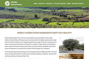 Natura Natural Web Sitesi Tasarımı