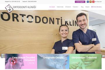 Ortodonti Kliniği Web Sitesi Tasarımı