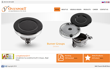 Ovenport Web Sitesi Tasarımı