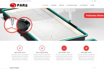 Pars Conta Web Sitesi Tasarımı