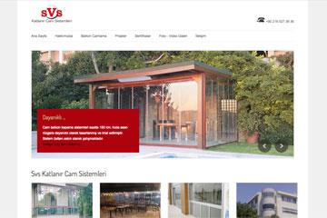SVS Cam Sistemleri Web Sitesi Tasarımı