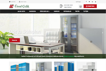 Ünsal Çelik Web Sitesi Tasarımı