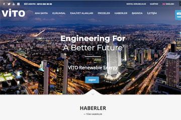 Vito Enerji web sitesi çalışmaları devam ediyor.