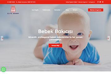 Elite Nanny Web Sitesi Tasarımı