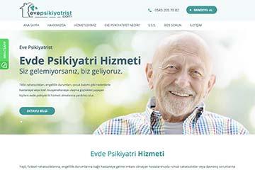 Eve Psikiyatrist Web Sitesi Tasarımı