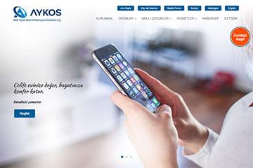 Aykos Akıllı Ev Web Sitesi Tasarımı