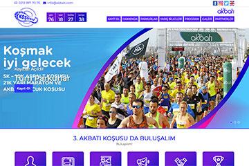 Akbatı Koşu Web Sitesi Tasarımı