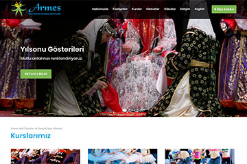 Armes Dans Web Sitesi Tasarımı