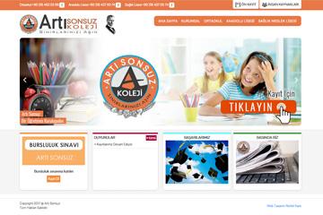 Arti Sonsuz Koleji Web Sitesi Tasarımı