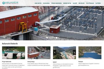 Aslancik Elektrik Web Sitesi Tasarımı