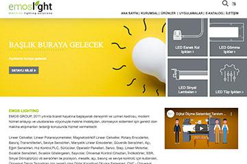 Emos Light Web Sitesi Tasarımı