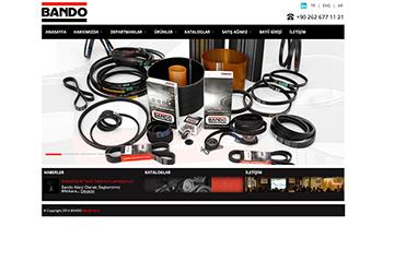 Bando Kayış Web Sitesi Tasarımı