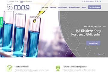 MNA Laboratuvar Web Sitesi Tasarımı