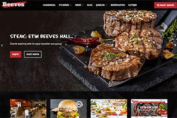 Beeves Burger web tasarım