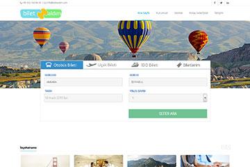Bilet Aldım Web Sitesi Tasarımı