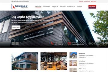 BKN Mimarlık Web Sitesi Tasarımı