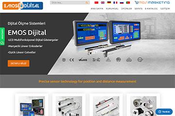 Emos Dijital web tasarım çalışmaları tamamlandı.