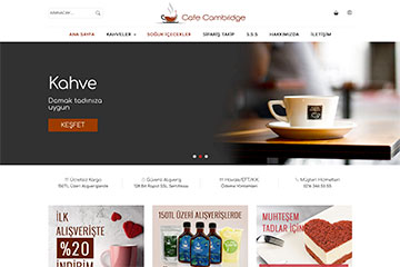 Cafe Cambridge Web Tasarım