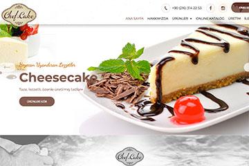 Chefs Cake Web Sitesi Tasarımı