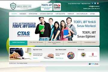 CLC Dil Okulu Web Sitesi Tasarımı