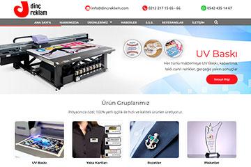 Dinç Reklam Web Sitesi Tasarımı