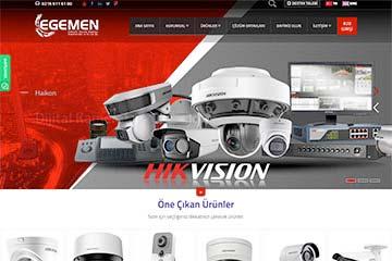 Egemen Elektronik Web Sitesi Tasarımı
